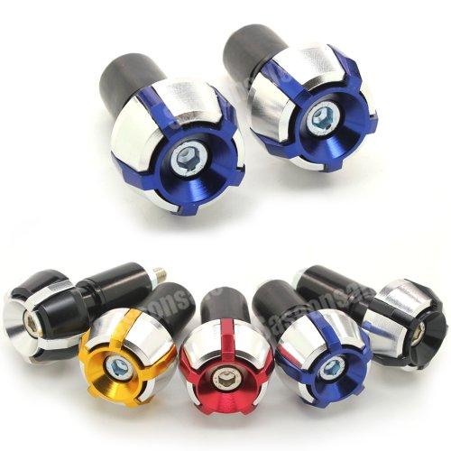 MIT Motors - BLUE - SPOKE CNC Bar Ends - Suzuki GSXR 600 750 1100 1300 KATANA SV650 SV1000 TL1000R BANDIT 600 1200 GSX 650F HAYABUSA
