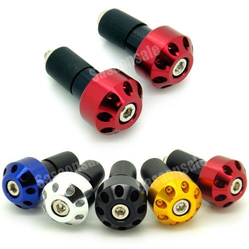 MIT Motors - RED - CNC Anodized Bar Ends - Suzuki GSXR 600 750 1100 1300 KATANA SV650 SV1000 TL1000R BANDIT 600 1200 GSX 650F HAYABUSA