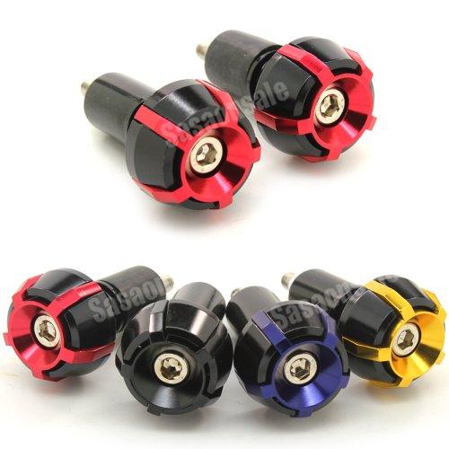 MIT Motors - RED - SP2 CNC Bar Ends - Suzuki GSXR 600 750 1100 1300 KATANA SV650 SV1000 TL1000R BANDIT 600 1200 GSX 650F HAYABUSA