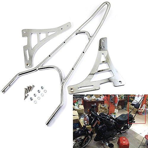 Motorcycle Detachable Backrest Rear Passenger Driver Rider Backrest Sissy Bar Mount Kit For Harley Sportster 883 1200 XL 48 72 04-14Chrome
