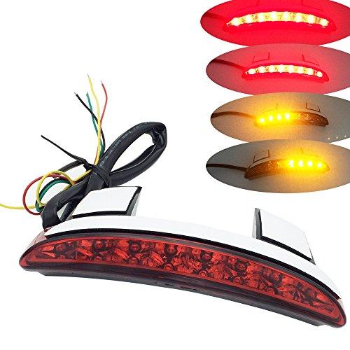 RED Chopped Fender Edge Brake LED Rear Tail Light Turn Signal Lamp for Harley Davidson XL883 1200
