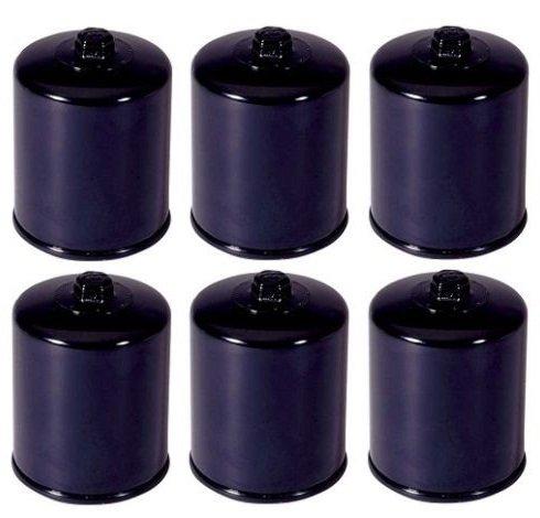K&N Black Oil Filters Pack Of 6 1999-09 Harley Davidson FLHT Electra Glide Standard  KN-171B
