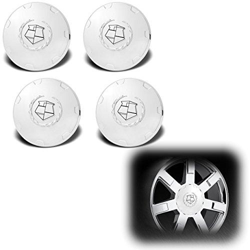 AutoModZone Custom Chrome 22-inch Wheel Center Cap Hub Emblem Pop in Cover 4-pc Set for 08-14 Cadillac Escalade BaseESVEXT Chrome Emblem