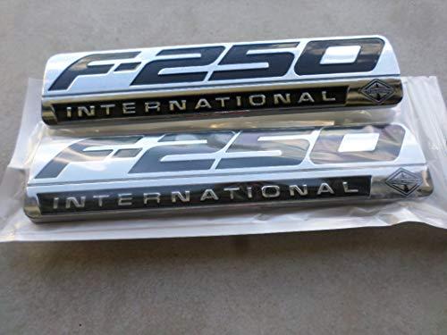 Truck Emblem Warehouse 2 New Pair Set Custom Chrome F250 Powerstroke Ford International Fender Badges Emblems