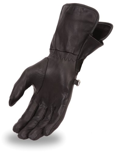 First Manufacturing Womens Light Weight Gauntlet Gloves Black X-Large