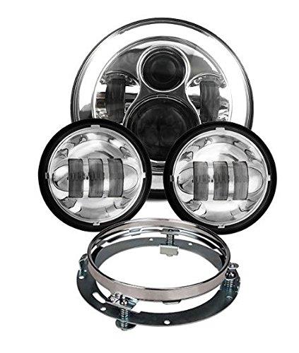 Scoot Lights Chrome headlight Kit for Harley Davidson motorcycles WM-J047 WM-J045E WM-J048A