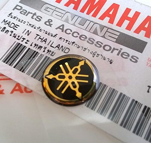 Genuine 12mm Diameter Yamaha Tuning Fork Decal Sticker Emblem Logo Black  Gold Raised Domed Gel Resin Self Adhesive Motorcycle  Jet Ski  ATV  Snowmobile
