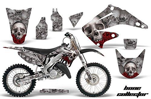 Honda CR125 Motocross Graphic Kit 2014 - Bone Collector Silver - AMR Racing