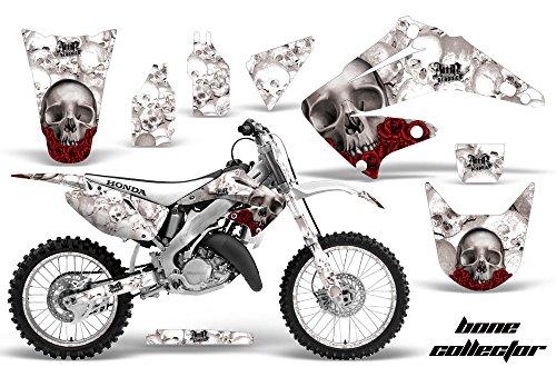 Honda CR125 Motocross Graphic Kit 2014 - Bone Collector White - AMR Racing