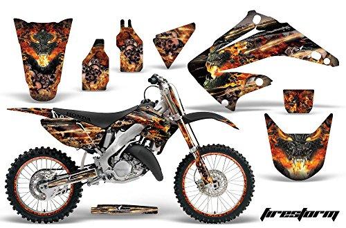 Honda CR125 Motocross Graphic Kit 2014 - Firestorm Black - AMR Racing