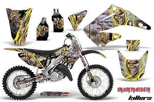Honda CR125 Motocross Graphic Kit 2014 - Iron Maiden Killers Silver - AMR Racing