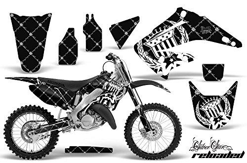 Honda CR125 Motocross Graphic Kit 2014 - Silver Stars Reloaded White - Black - AMR Racing