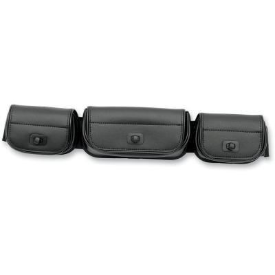 Memphis Shades Luggage Batwing Fairing Tri-Pouch Black