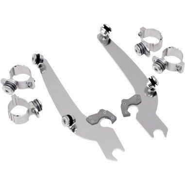 Memphis Shades Trigger-Lock Mount Kit for Sportshield Windshields - Polished MEM8919