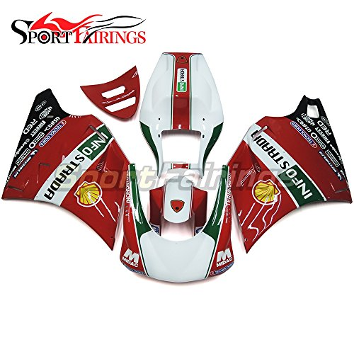 Sportfairings Motorbike Injection ABS Plastic Racing Fairing Kits For DUCATI 996 748 916 998 Monoposto 1996-2002 Frames Red White Green Bodywork