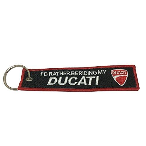 Teratai 1pcs Ducati Motorcycles Tag Keychain For Bike Biker Key Chain Accessories Gifts