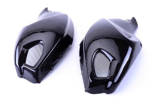 Bestem CBDu-696-TSP Black Carbon Fiber Side Tank Covers for Ducati Monster 696 796 1100