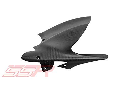 2011-2017 Ducati Diavel Matte Carbon Fiber Fibre Rear Mudguard Fender Hugger w Chainguard Same Weave Matte Finish as Diavel Carbon DP Carbon