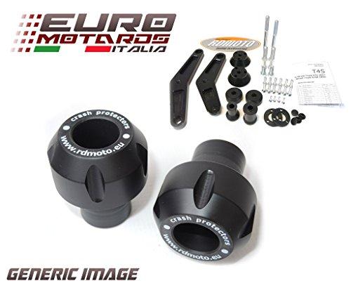 Ducati Monster 796 2010-2014 RD Moto Crash Frame Sliders Protectors With Full Mounting Kit Black