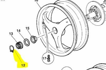 Ducati OEM Rear Wheel Axle C-Clip Retainer Clip 748 848 996 996 75910091A