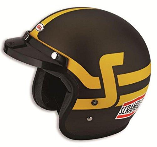 Ducati Scrambler Short Track Open Face Helmet by Bell Brown Yellow Large