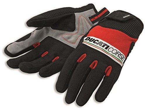 Ducati Corse Pitlane 2 Textile Mechanics Glove by Spidi Red Black White X-Large