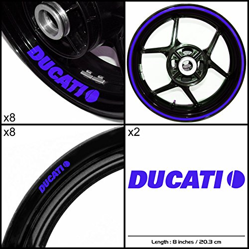 Stickman Vinyls Ducati Motorcycle Decal Sticker Package Gloss Blue Graphic Kit