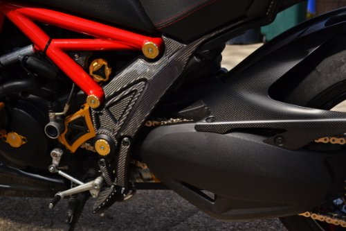 DUCATI Diavel both sides Frame Trim Real Carbon Fiber pad tank protector