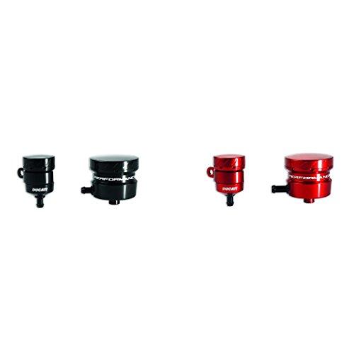 Ducati Panigale Billet Aluminum Brake and Clutch Reservoirs-Black