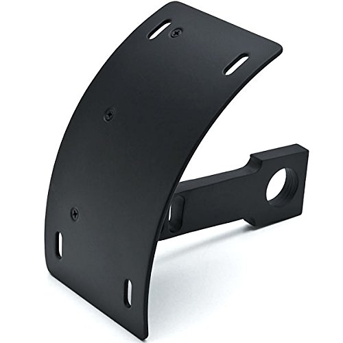 Krator Black Vertical Axle Mount Motorcycle Plate Holder For Ducati Monster 620 696 750 796 900 1000 1100 S2R