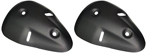 Bestem CBDU-696-EHC-F Black Carbon Fiber Matte Finish Rear Exhaust Covers for Ducati Monster 6961100