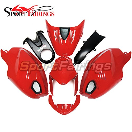 Sportfairings Injection ABS Plastic Complete Fairing Kits For DUCATI 696 796 795 M1000 M1100 Year 2009 2010 2011 Sportbike Gloss Red Cowls