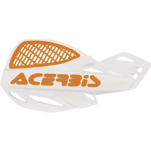 Acerbis 2072671088 WhiteOrange Vented Uniko Hand Guard