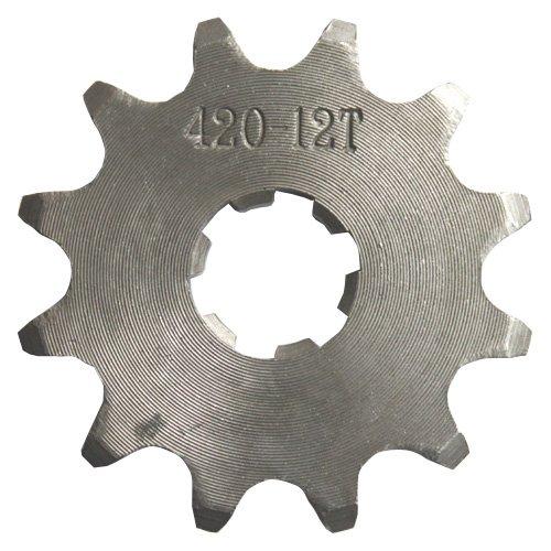 420 12-Tooth 17mm Engine Sprocket For 50cc 70cc 90cc 110cc 125cc ATV Dirt Pit Bike Go Kart Quad 4 Wheeler Dune Buggy