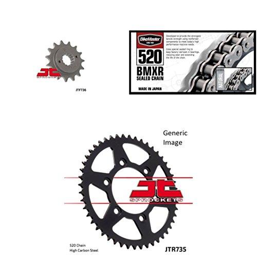 BIKEMASTER 520 BMXR Sealed Chain Natural JT Front Rear Sprocket Kit for Street DUCATI 851 Strada 1988-1992