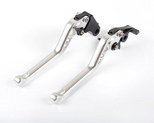 Tencasi Silver CNC 3D Long Adjustable Brake Clutch Lever for Ducati GT 1000 2006-2010 PAUL SMART LE 2006 S2R 1000 2006-2008