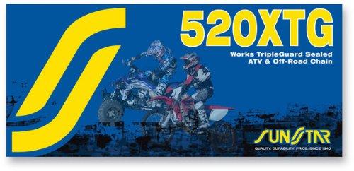 Sunstar 520 ATV Off Road TripleGuard Sealed Chain 120 Links Gold F Hon Husa KTM