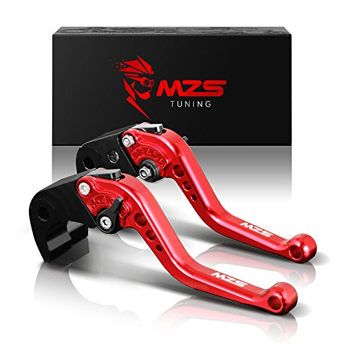 MZS Short Brake Clutch Levers for Ducati 899 Panigale 2014-20151199 PanigaleSTricolor 2012-20151299 PanigaleSR 2015-2017DiavelCarbonXDiavelS 2016MONSTER 1200 S 2014-2015 Red