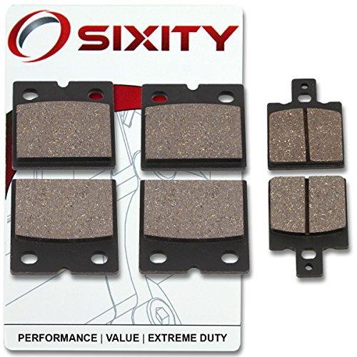 Sixity Front  Rear Ceramic Brake Pads 1987 Ducati 750 Paso Set Full Kit Complete
