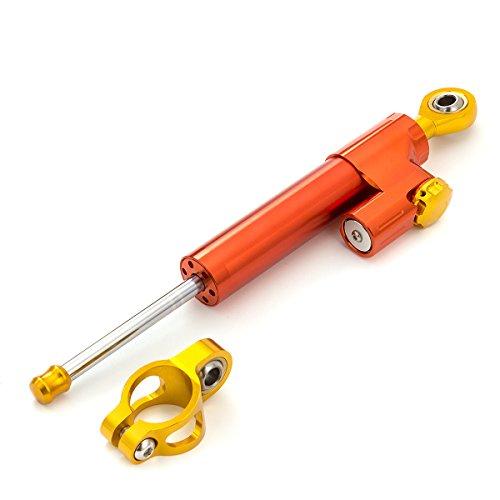 FXCNC Motorcycle Universal Steering Damper Stabilizer Linear Fit For SUZUKI GSXR 600 750 1000 GSR750Ducati 696 848 1 PCS Orange&Gold