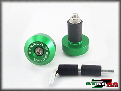 Strada 7 Racing CNC Handle Bar Ends Green For Ducati Monster M900