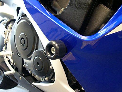 Shogun Motorsports 750-5429 Black Cut Frame Sliders Suzuki GSXR600 06-07 GSXR750 06-07