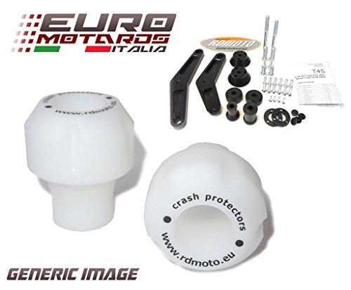 Yamaha FZ1 2006-2013 RD Moto Crash Frame Sliders Protectors With Full Mounting Kit White