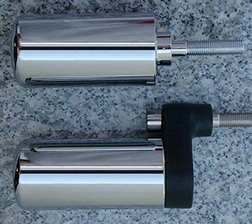 i5 No-Cut Chrome Frame Sliders for Suzuki GSXR1000 GSXR 1000 2001-2002