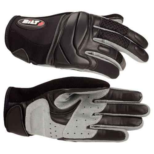 Bilt Women's Blazer Leather/mesh Motorcycle Gloves - Sm, Black