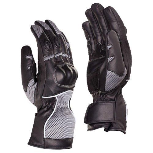 SEDICI Womens Emilia LeatherMesh Motorcycle Gloves - XS BlackGray