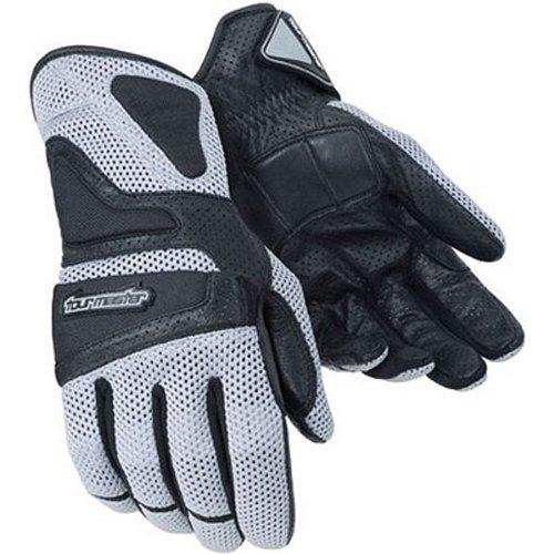 Tour Master Intake Air Women's Textile Sports Bike Motorcycle Gloves - Silver / Large