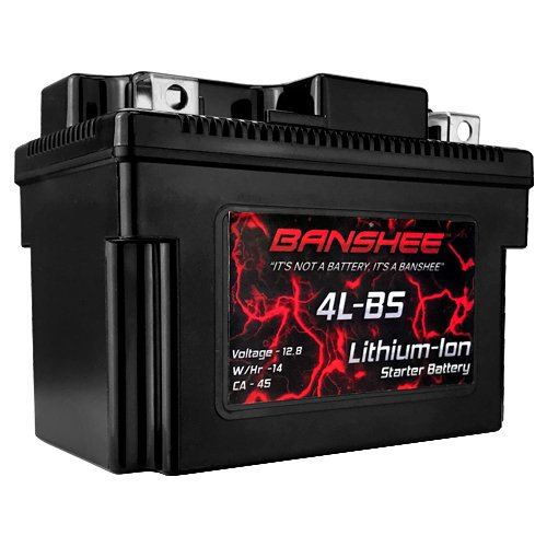 4L-BS Lithium Ion Sealed Battery 12V Motorcycle Scooter ATV Replaces YTX4L-BS