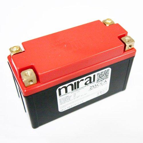 Mirai Ultra Lightweight Lithium Motorcycle Battery 15Ah PbEqv 255CCA MLP-1512-C2