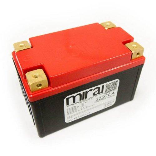 Mirai Ultra Lightweight Lithium Motorcycle Battery 21Ah PbEqv 325CCA MLP-2112-C4